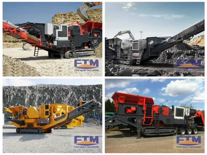 Crawler type mobile jaw crusher